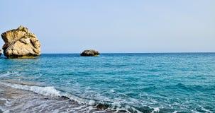 La baie de l'Aphrodite Image stock