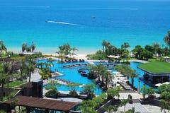 La baie de yalong de station de vacances de Holiday Inn, Chinois de Sanya font du jardinage Photographie stock