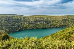 La baie et la vallée de Lim près de Rovinj et de Vrsar photo libre de droits