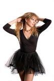 La bailarina en el negro Fotografía de archivo libre de regalías