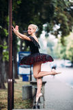 La bailarina hace el selfie Fotos de archivo
