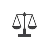 La Balance, vecteur d'icône d'échelle, a rempli signe plat illustration de vecteur