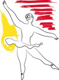La ballerine danse Images stock