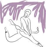 La ballerine danse Image libre de droits