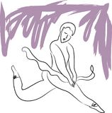 La ballerine danse illustration stock