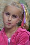 La bambina con compone Fotografia Stock Libera da Diritti