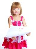 La bambina dissipa Fotografia Stock