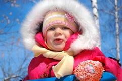 La bambina in parco Immagini Stock Libere da Diritti