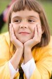 La bambina sta fantasticando Fotografia Stock