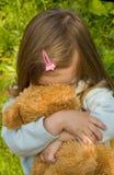 La bambina triste immagine stock