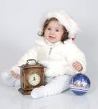 La bambina in vestiti celebratori Fotografia Stock Libera da Diritti