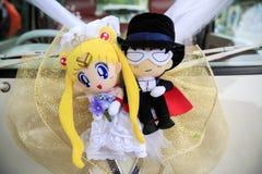 La bambola del marinaio Moon e Mamoru Chiba immagine stock