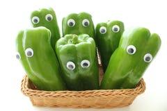 La bambola di un peperone verde Fotografie Stock