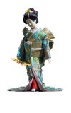 La bambola giapponese della geisha Fotografia Stock