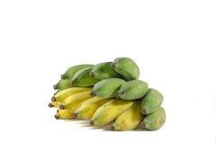La banana gialla e verde Fotografia Stock