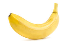 La banana matura ha isolato Immagini Stock