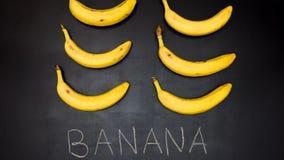 La banane, arrêtent l'animation de mouvement banque de vidéos