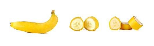 La banane d'isolement sur le fond blanc Image libre de droits
