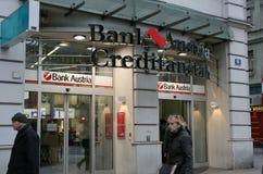 La Banca Austria Creditanstalt immagini stock libere da diritti