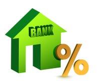 La Banca con uno sconto firma dentro l'illustrazione fronta Fotografia Stock