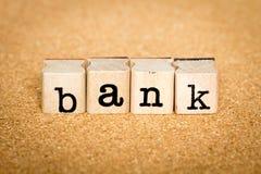 La Banca - concetti del bollo di alfabeto Immagine Stock