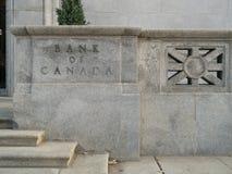 La Banca del Canada Immagini Stock