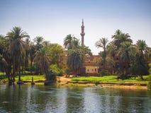 La Banca del fiume superiore Nilo Immagini Stock
