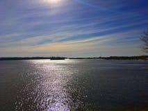 La Banca del fiume Volga Fotografie Stock