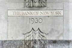 La Banca dell'edificio di New York immagini stock libere da diritti