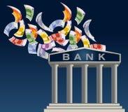 La Banca dell'Europa Fotografia Stock Libera da Diritti