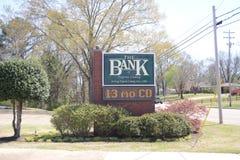 La Banca della contea di Fayette, Somerville TN immagine stock libera da diritti