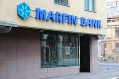 La Banca di Marfin Fotografie Stock