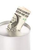 La Banca di moneta immagine stock libera da diritti