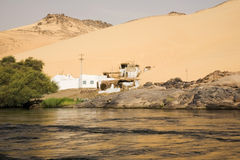 La Banca di Nilo, Egitto fotografia stock libera da diritti