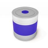 La Banca di pittura blu su fondo bianco, rappresentazione 3d Immagine Stock