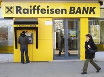 La Banca di Raiffeisen Fotografie Stock Libere da Diritti