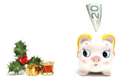 La Banca di risparmio di festa Immagini Stock
