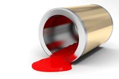 La banca di vernice rossa Immagine Stock Libera da Diritti