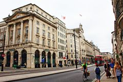 La Banca Piccadilly Londra Westminster Regno Unito di Lloyds Immagini Stock Libere da Diritti