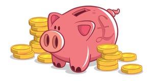 La Banca Piggy britannica Immagine Stock