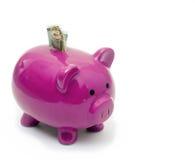 La Banca Piggy dentellare Fotografie Stock Libere da Diritti