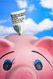 La Banca Piggy di ceramica dentellare Fotografia Stock