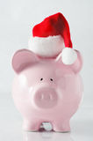 La Banca Piggy di natale Fotografie Stock Libere da Diritti
