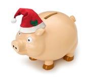 La Banca Piggy di natale Immagini Stock Libere da Diritti