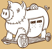 La Banca Piggy di Trojan Horse Fotografia Stock