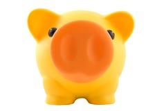 La Banca Piggy gialla Fotografia Stock