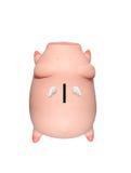La Banca Piggy isolata su bianco Immagine Stock Libera da Diritti