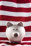La Banca Piggy patriottica 4151 Fotografia Stock Libera da Diritti