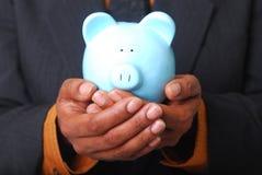 La Banca Piggy sicura Fotografia Stock Libera da Diritti