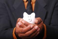 La Banca Piggy sicura Immagine Stock Libera da Diritti